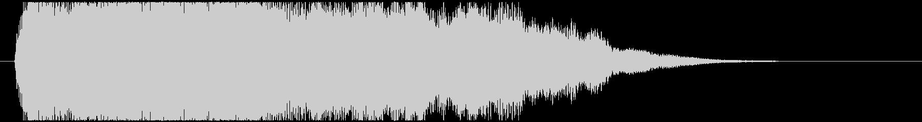 神秘的で透明感のあるインパクト音9の未再生の波形