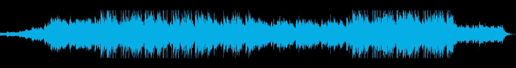 水流と木々のなびきが特徴的なBGMの再生済みの波形