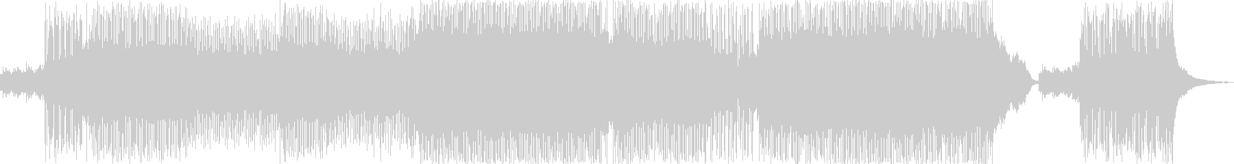 映画のエンドロールをイメージしたインストの未再生の波形