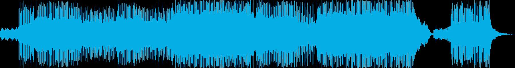 映画のエンドロールをイメージしたインストの再生済みの波形