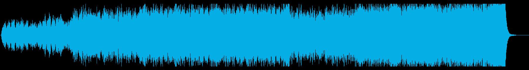 【オケ曲】重厚で壮大なオーケストラ曲の再生済みの波形