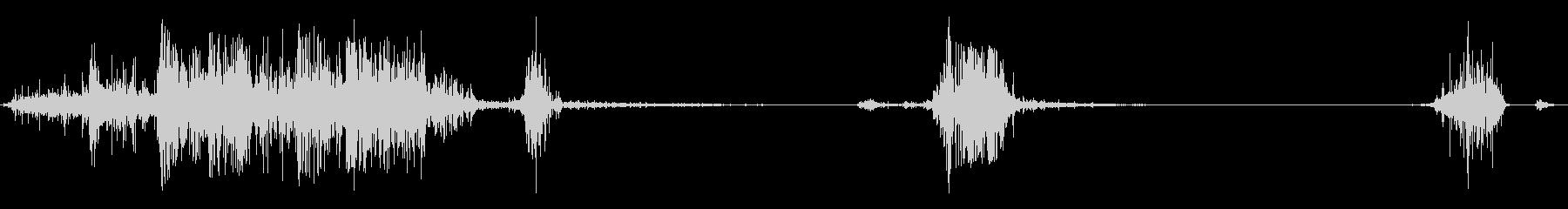 食べる音_パリパリの未再生の波形