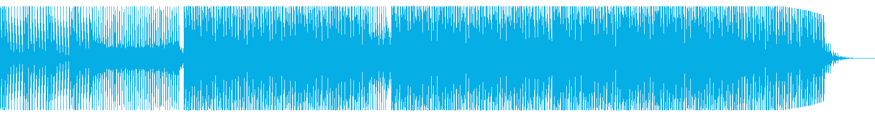 BGMに最適!爽やかなハウスミュージックの再生済みの波形