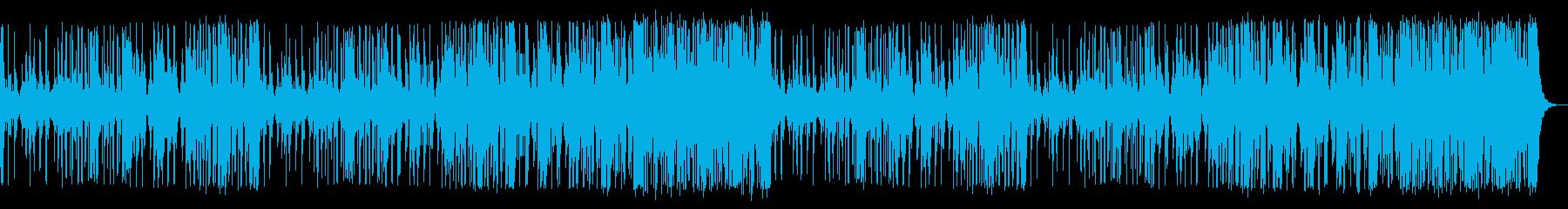 和太鼓が激しく鳴り響くドラミングの再生済みの波形