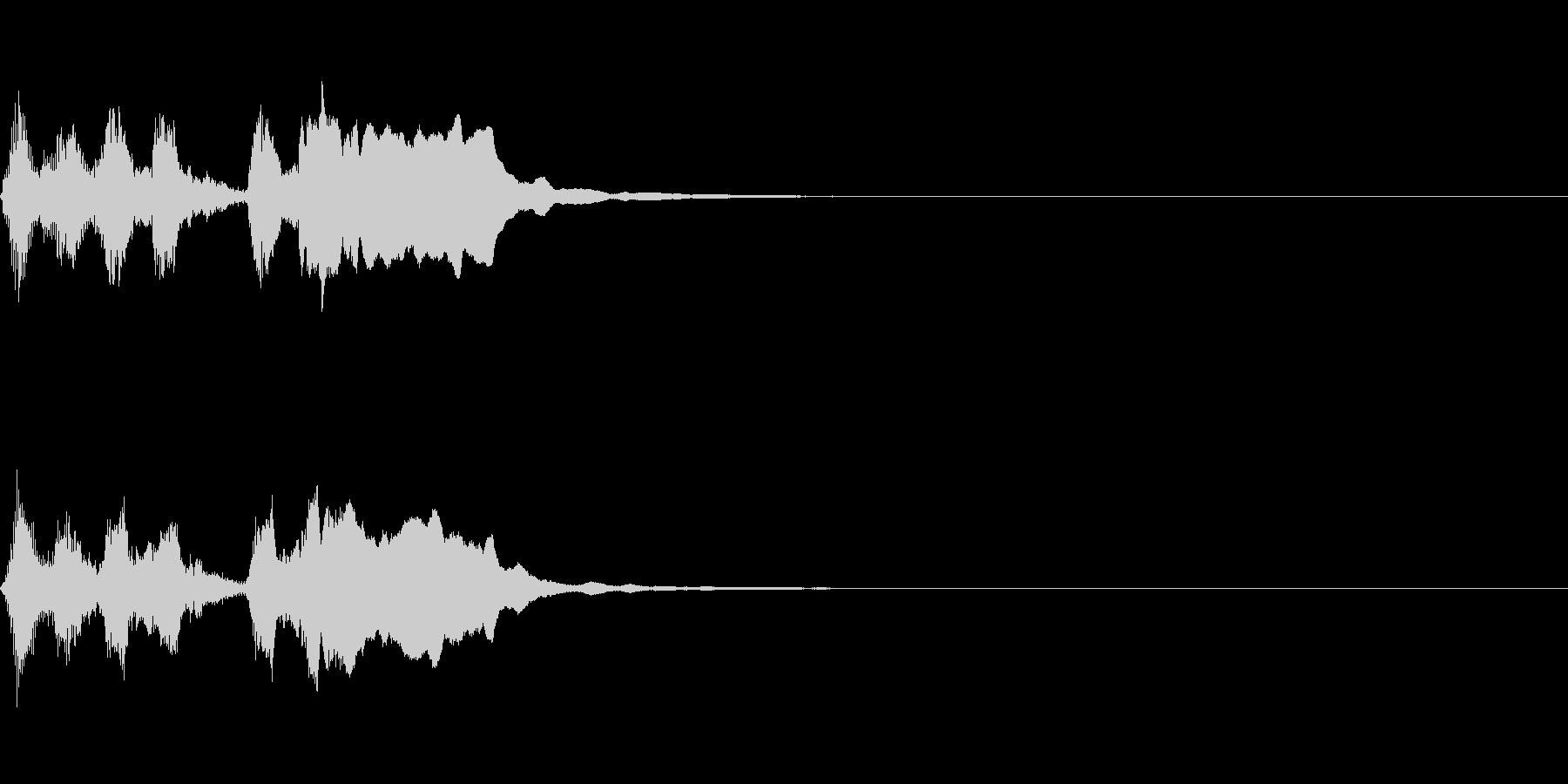ライトでポップなファンファーレ(遅め)の未再生の波形
