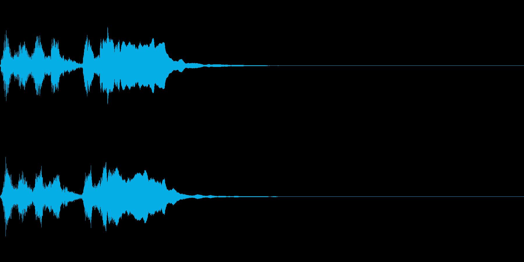 ライトでポップなファンファーレ(遅め)の再生済みの波形