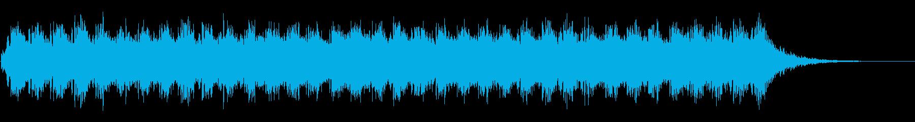 アンビエントなパッド系BGM(WAV)の再生済みの波形