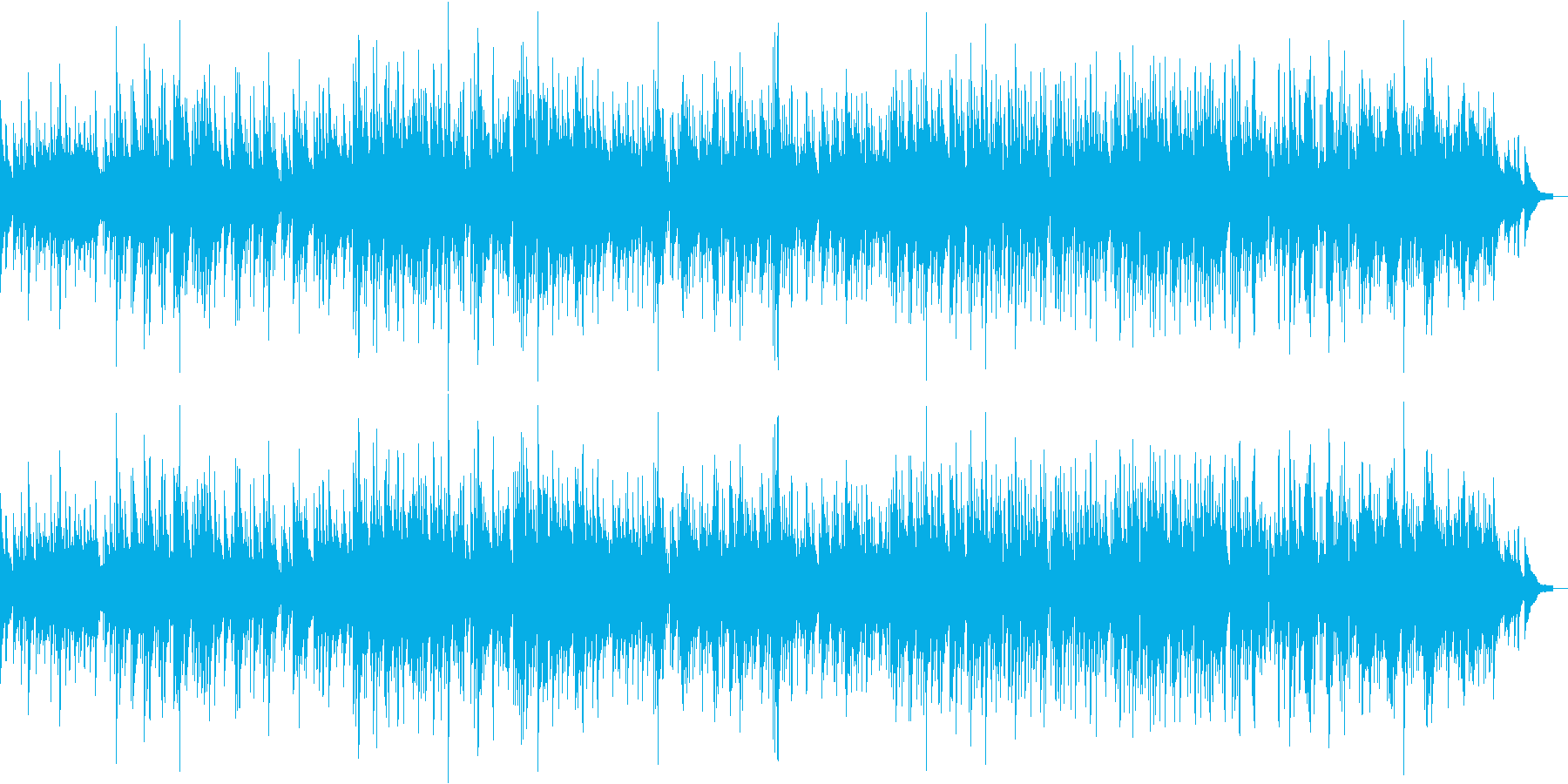 スローなピアノジャズボサノバの再生済みの波形