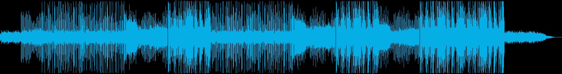 ロックとトラップを融合したビートの再生済みの波形