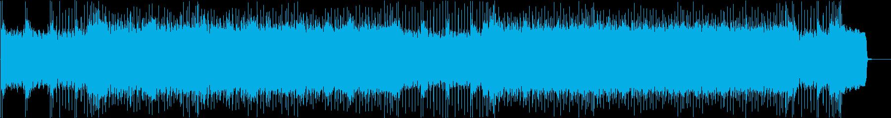 激しいバトルをイメージしたメタルBGの再生済みの波形