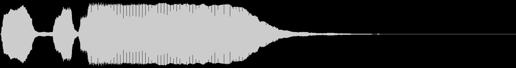 トランペット/下がるテッテレーの未再生の波形