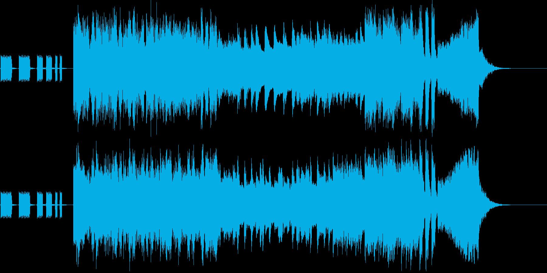 勇敢でおちゃめなショートムービー用BGMの再生済みの波形