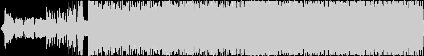 疾走感のあるハイテンポなデジタルロックBの未再生の波形