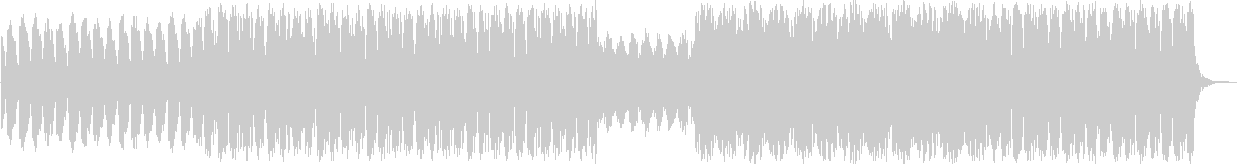 幻想的エレクトロニカハウスミュージックの未再生の波形