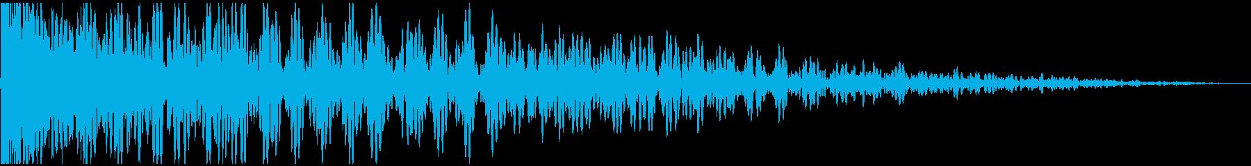 地鳴りのするような迫力あるドンッ!!!の再生済みの波形