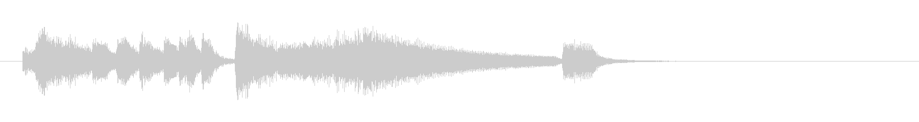 #2 END funny piano CODAの未再生の波形