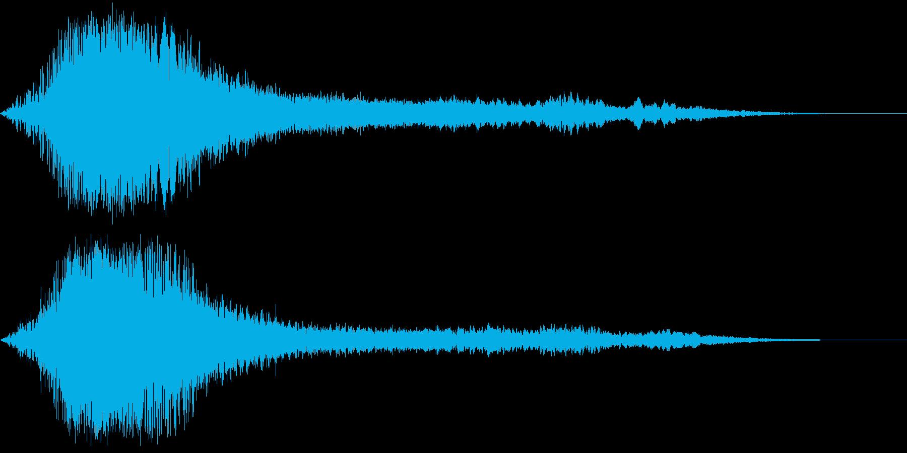 【ホラー】キーン・・ドンッ!!_衝撃音の再生済みの波形