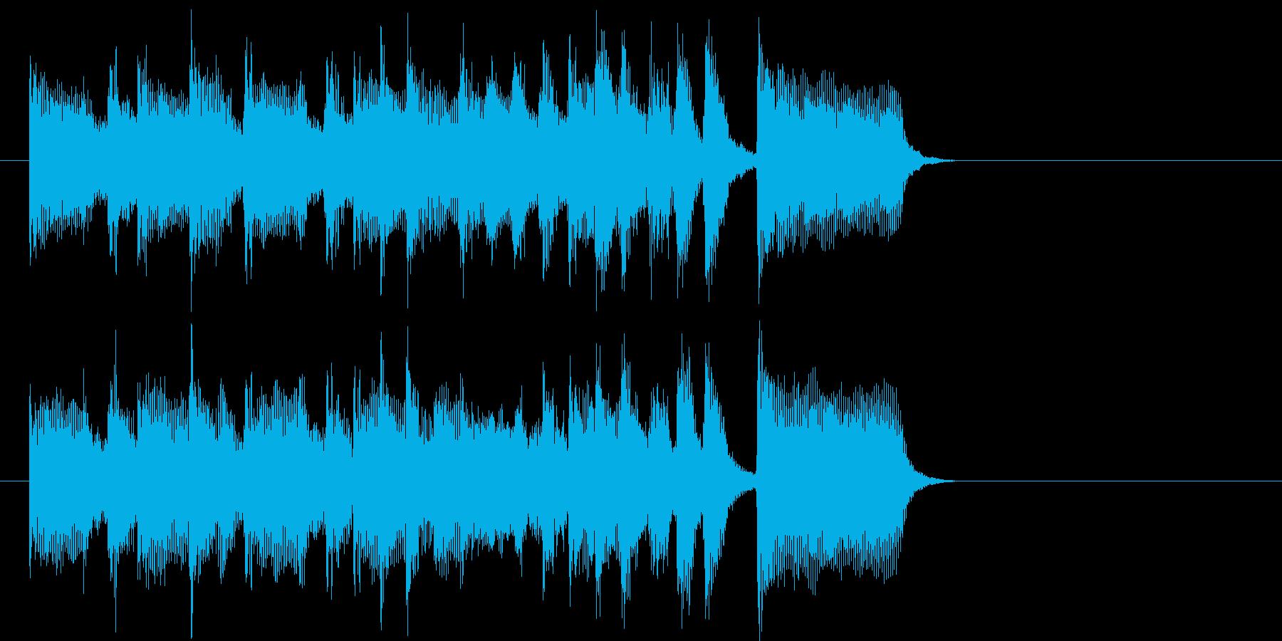 ほのぼのとして温かい日常系ジングルの再生済みの波形