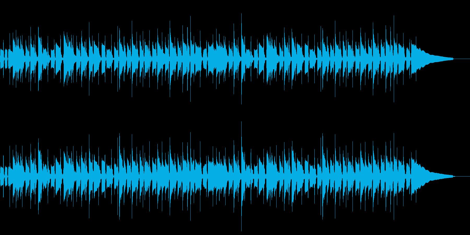 シンプルで覚えやすいウクレレバンド曲の再生済みの波形