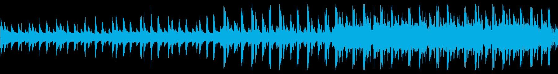 重くてクールなサスペンス感のあるBGMの再生済みの波形