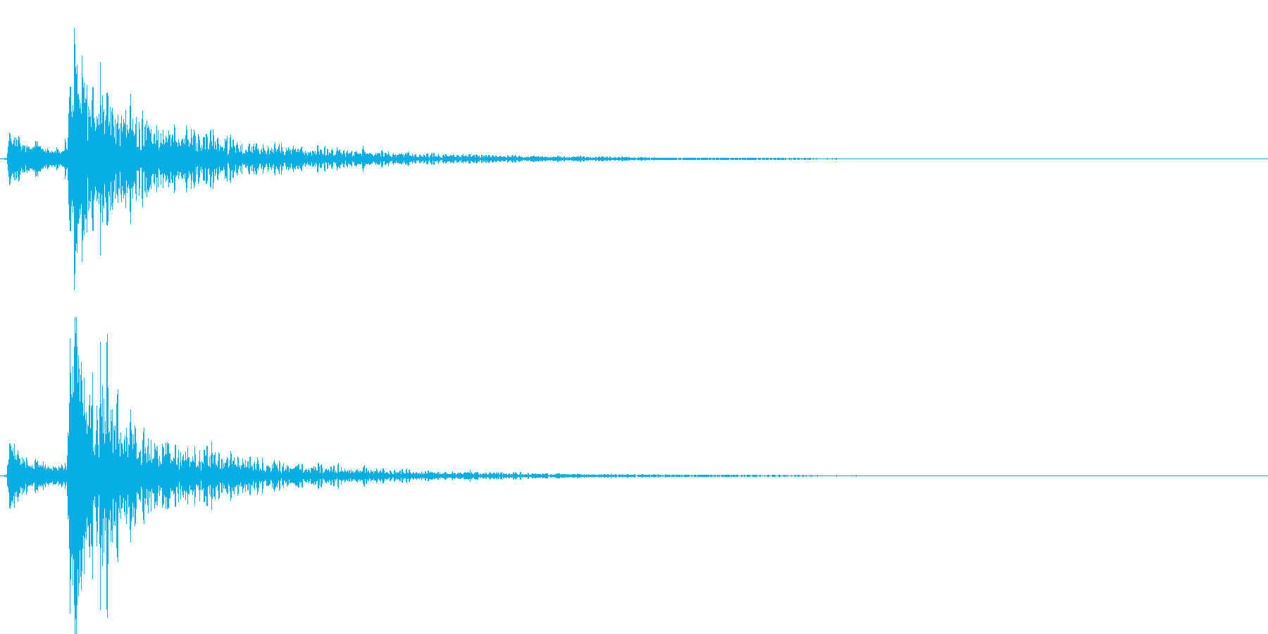鉄製の扉が閉じる音-1の再生済みの波形