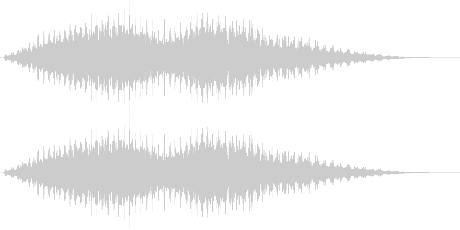 音侍SE「フルフル〜」重めな振り鈴の音の未再生の波形