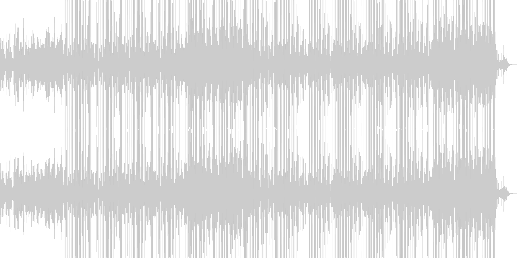 ノスタルジックなHIPHOPビートの未再生の波形