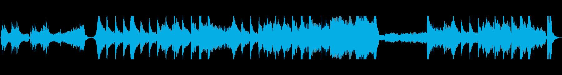 緊迫感のある中華風エピックオーケストラの再生済みの波形