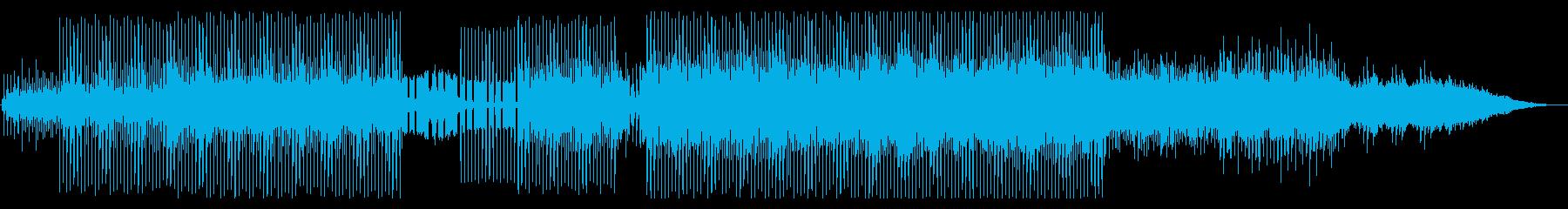 爽やかな透明感、近未来的テクノポップの再生済みの波形