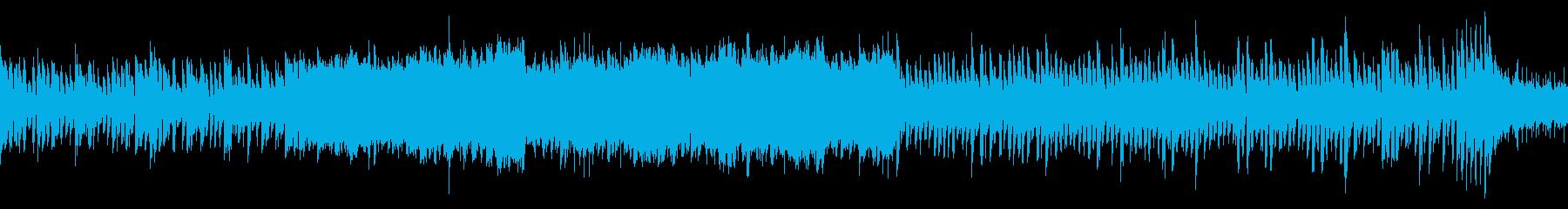 緊迫した雰囲気のバトル曲(ループ仕様)の再生済みの波形