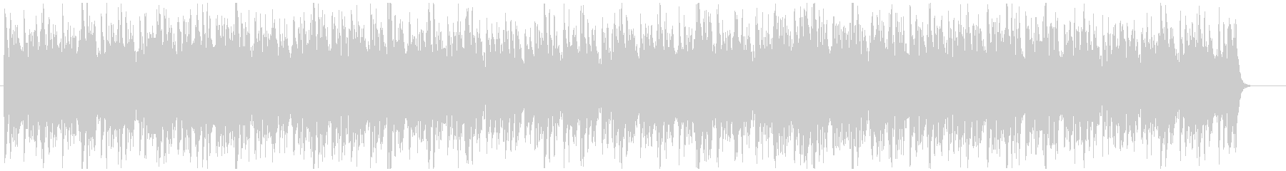 クライマックス的なオケ曲の未再生の波形