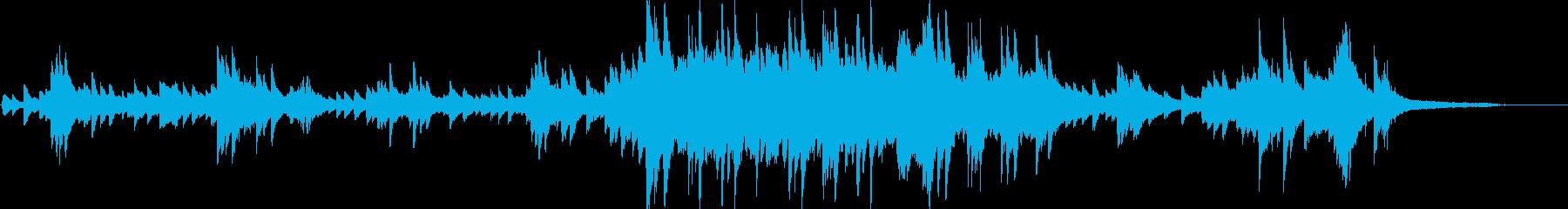 暖かく心情に訴えかけるピアノソロアレンジの再生済みの波形