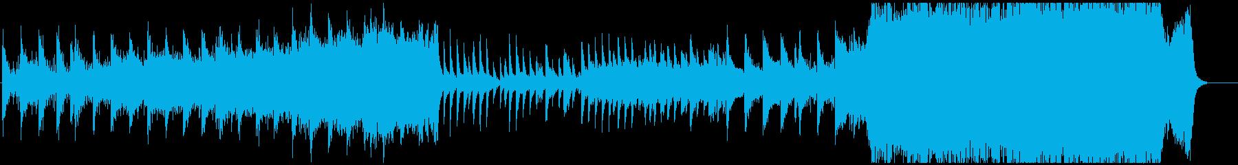 ピアノから始まるシネマティックな楽曲の再生済みの波形