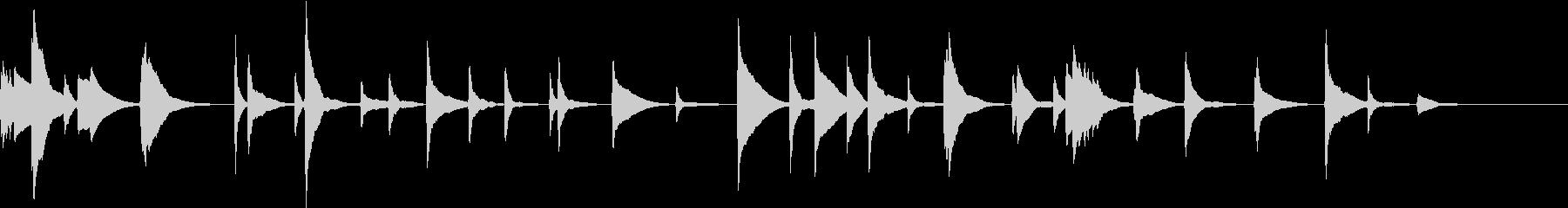 琴の和風の曲 渋め 正月の感じの未再生の波形