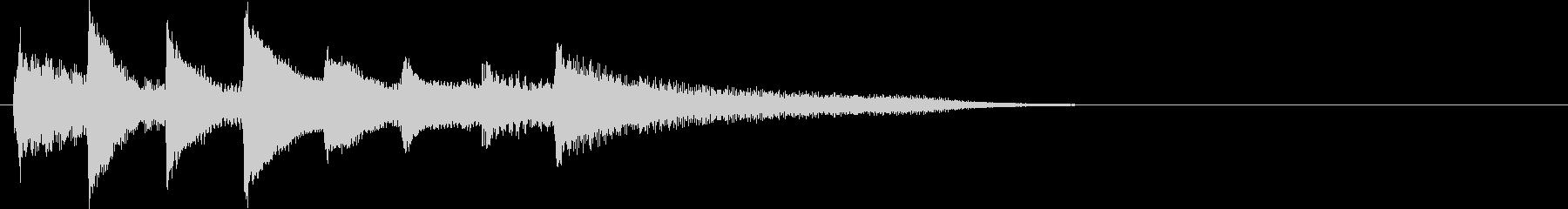 短いピアノ映像用ジングル8の未再生の波形