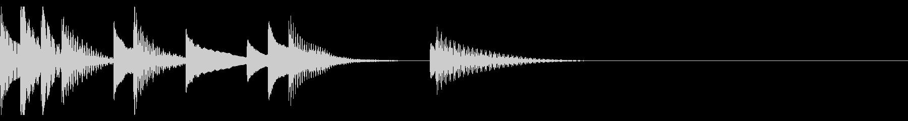 マリンバのほのぼのしたかわいいジングルの未再生の波形
