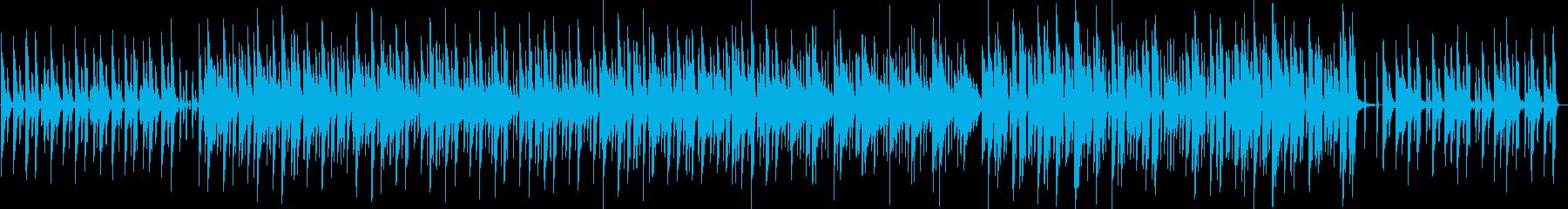 楽しそうな場面のかわいい曲の再生済みの波形