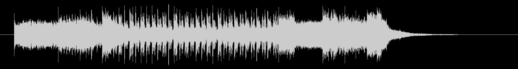 速さのあるギターのパンクロックの曲の未再生の波形