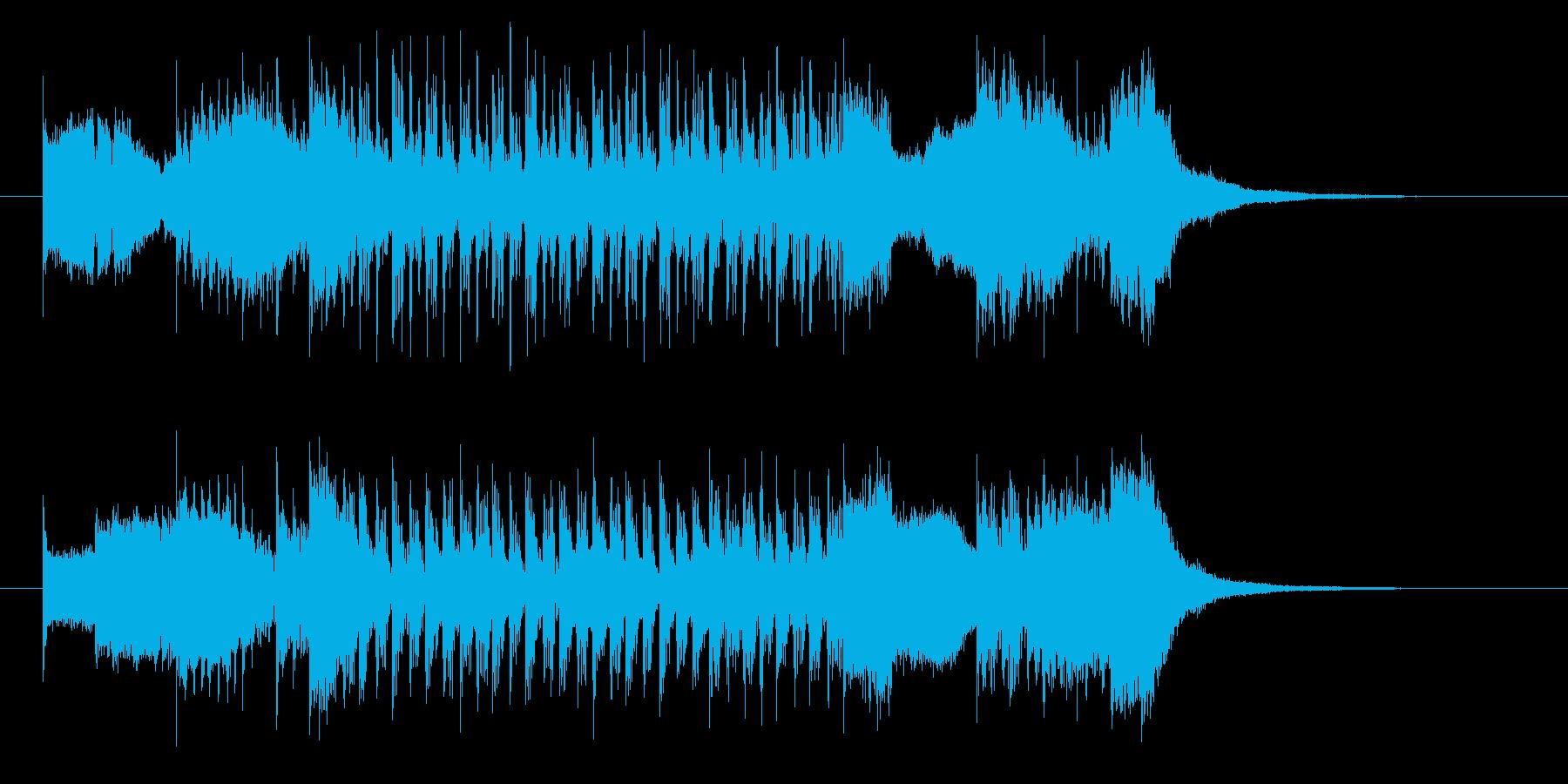 速さのあるギターのパンクロックの曲の再生済みの波形