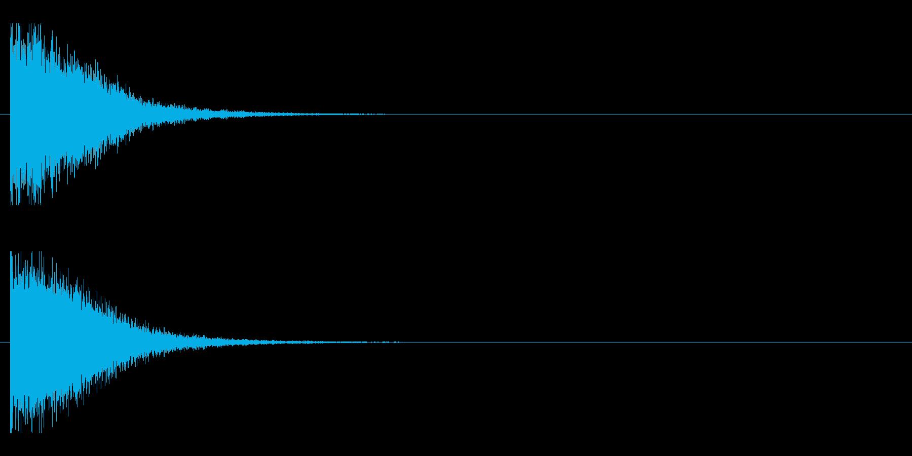 レーザー音-147-1の再生済みの波形