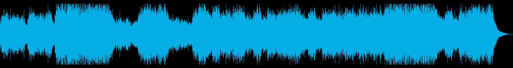 ミステリアスなコーラス主体のBGMの再生済みの波形