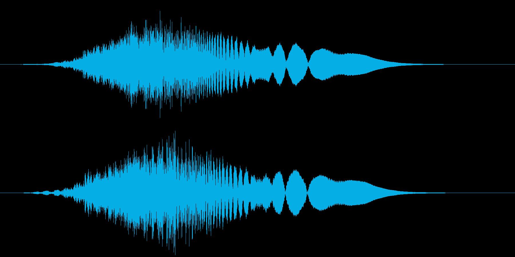 ハリウッドSF_流行_低音_ブーン_03の再生済みの波形