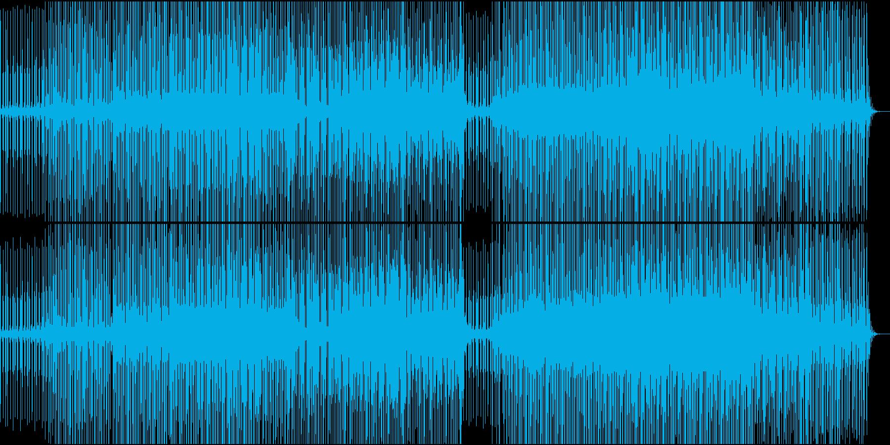 ふわふわした雰囲気のエレクトロニカの再生済みの波形