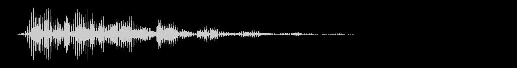 プッ(シンプルで電子的な決定音)の未再生の波形