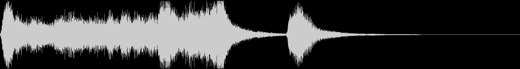 管弦楽による明るいジングルの未再生の波形