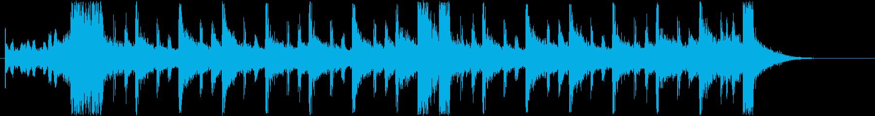近未来風なシンセサイザーサウンド短めの再生済みの波形
