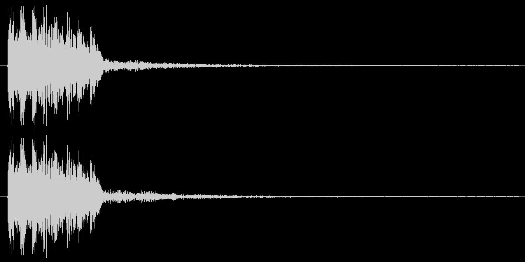 ピロリロリン♪【正解音、回復音など】の未再生の波形