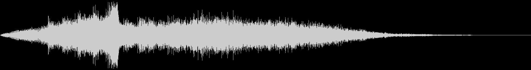 ブランドロゴ向けジングルの未再生の波形