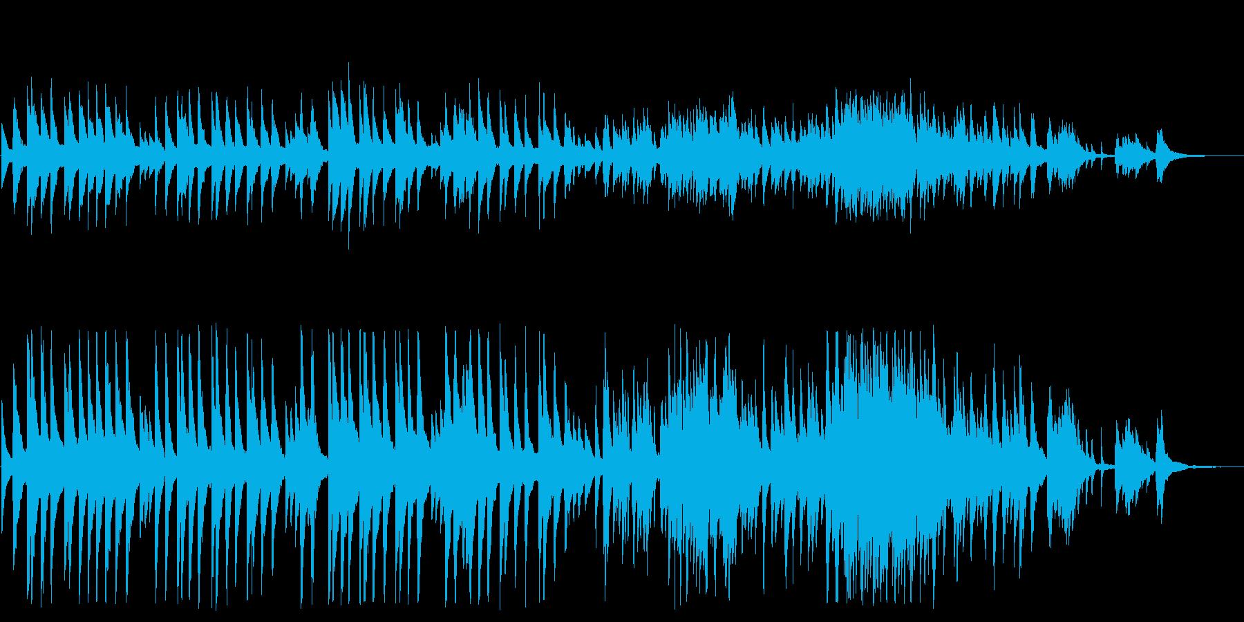 「蛍の光」ピアノカバーBGMの再生済みの波形