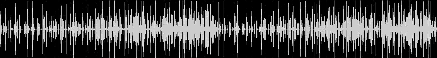 可愛らしいピアノが印象的なBGMの未再生の波形